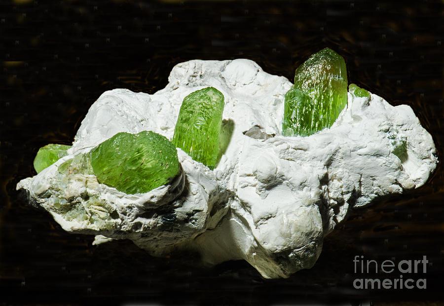 Nature Photograph - Peridot Crystals by Millard H. Sharp