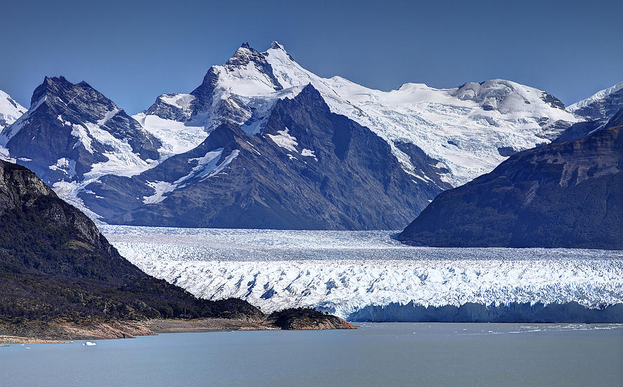 Perito Moreno Glacier Photograph - Perito Moreno Glacier - Snow Top Mountains by Kim Andelkovic