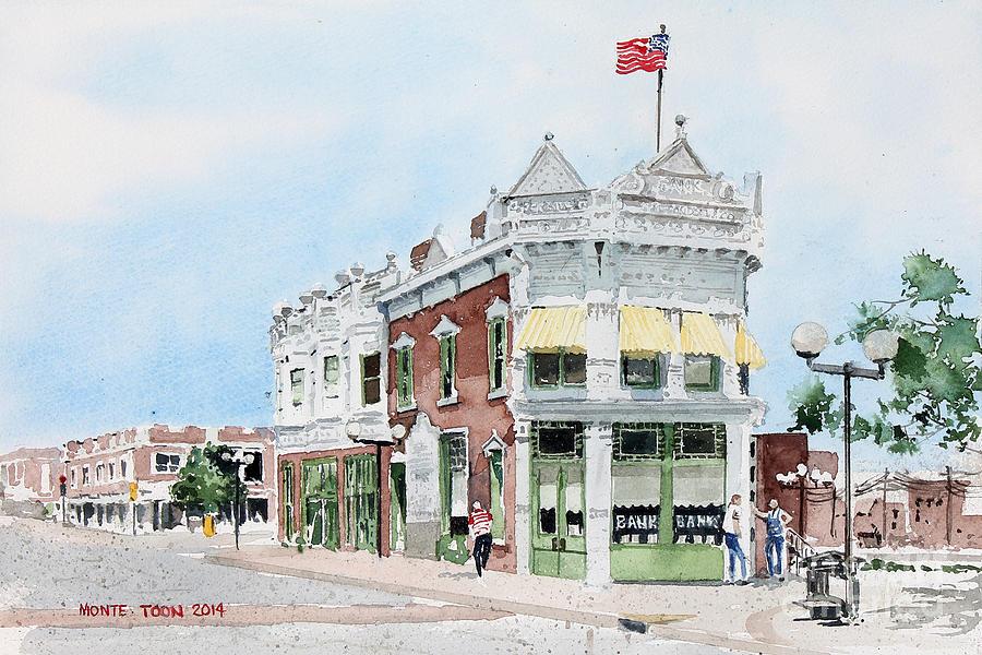 Kansas Painting - Perkins Building by Monte Toon