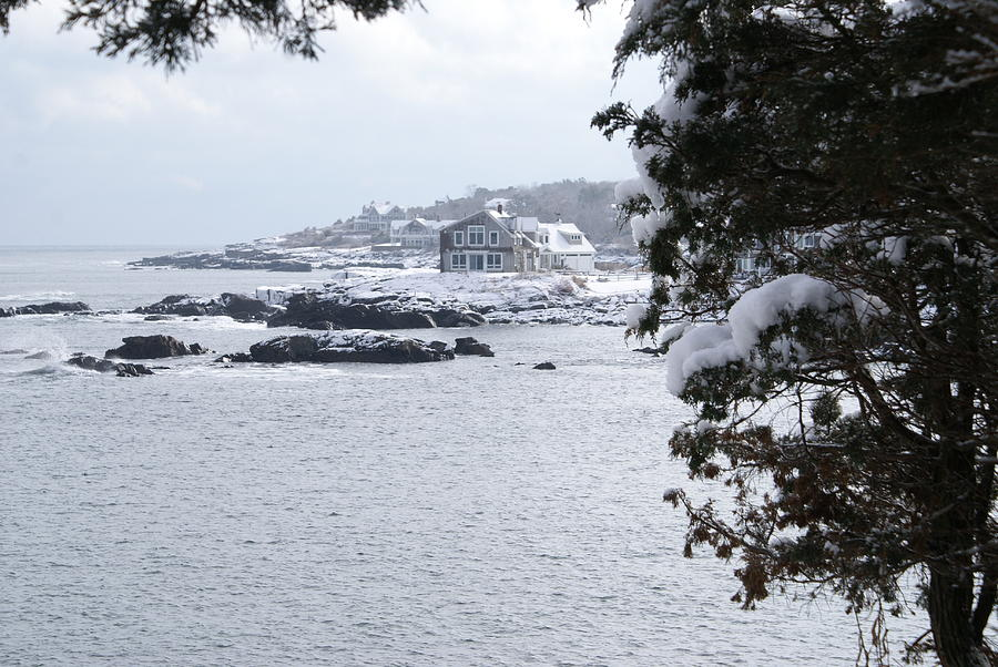 Perkins Cove Photograph - Perkins Cove in Winter by Paul Lavoie