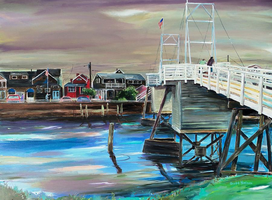Perkin's Cove Painting - Perkins Cove Maine by Scott Nelson