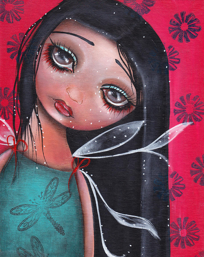 Fairy Painting - Perla by  Abril Andrade Griffith