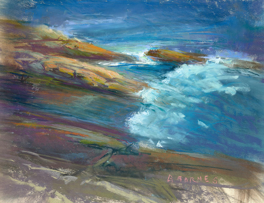 Maine Painting - Pemaquid Rocks by Greg Barnes