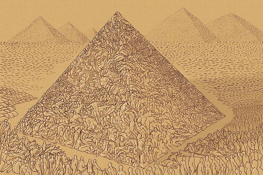 Abstract Digital Art - Perpetual Slavery by Siyavush Mammadov