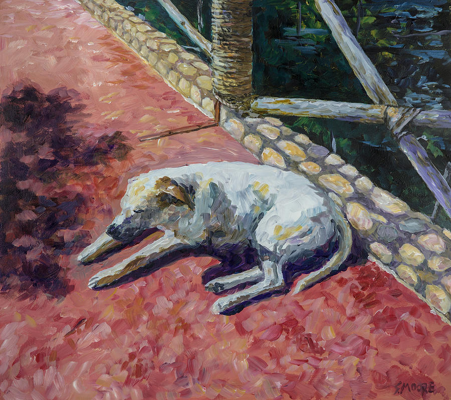 Dog Painting - Perro by Susan Moore
