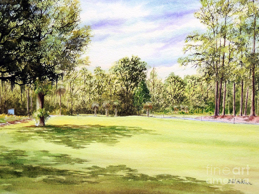 Perry Golf And Country Club Painting - Perry Golf Course Florida  by Bill Holkham