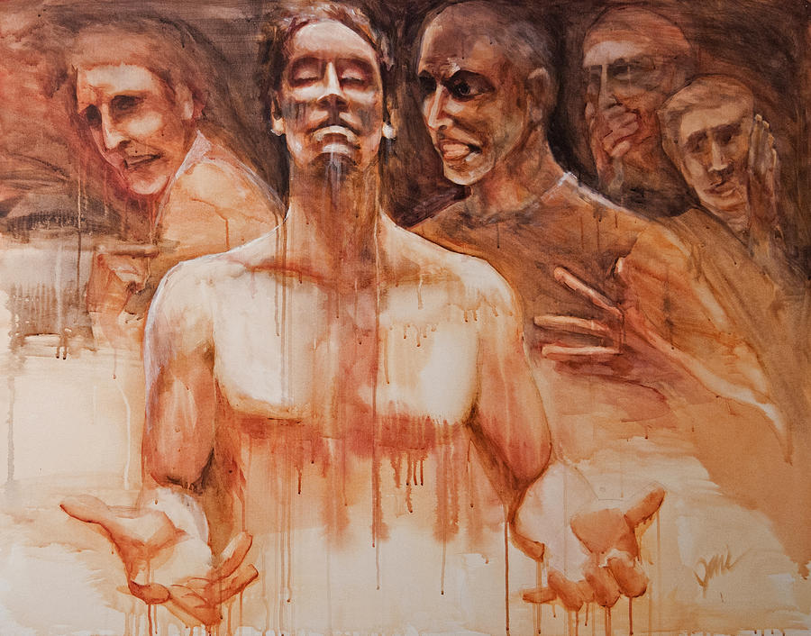 People Painting - Persecution by Jani Freimann