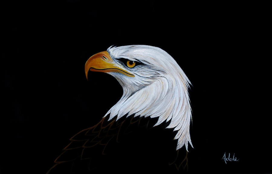Eagle Painting - Perserverance by Adele Moscaritolo