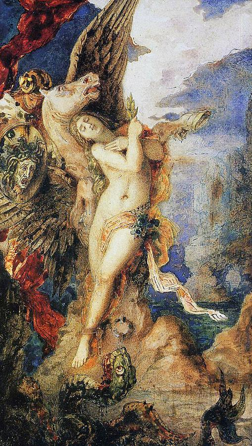 Gustave Moreau Painting - Perseus And Andromeda by Gustave Moreau
