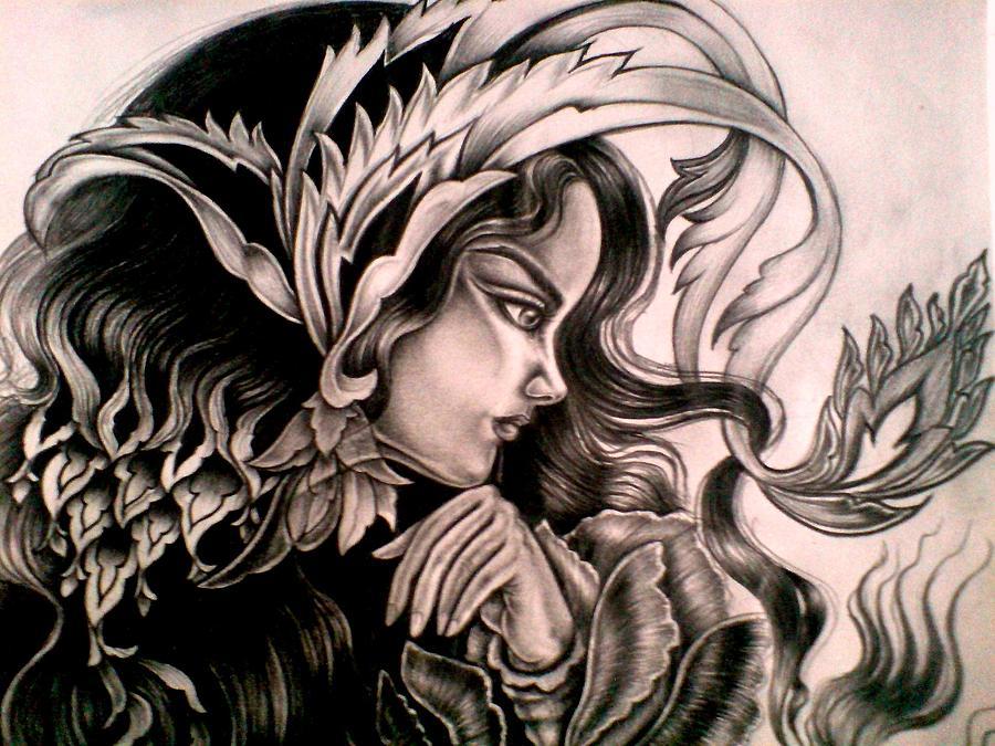 Girl Drawing - Persian Girl by Sonia P