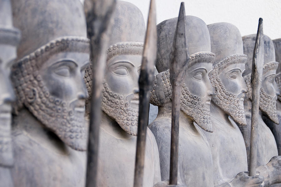 Persian warriors in line Photograph by FrankvandenBergh