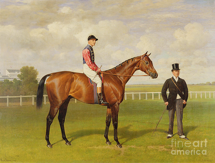 Horse Painting - Persimmon Winner Of The 1896 Derby by Emil Adam