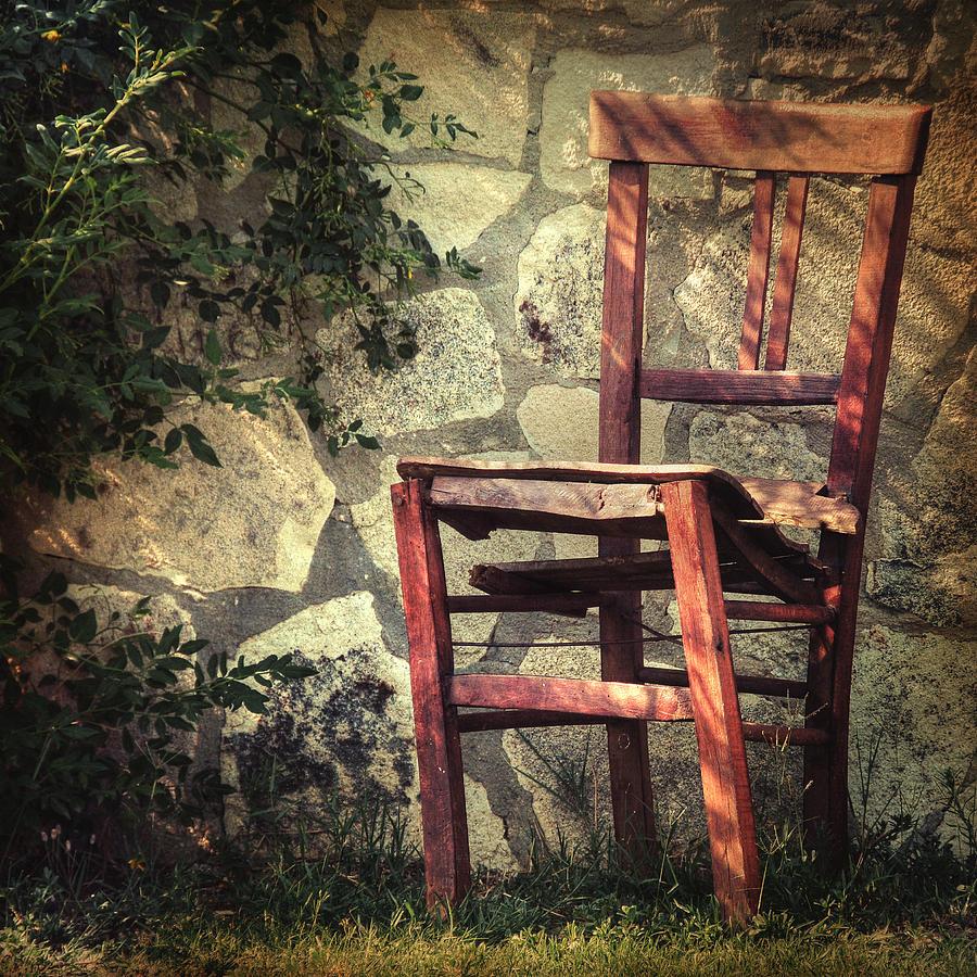 Chair Photograph - Persistence Of Memory by Taylan Apukovska