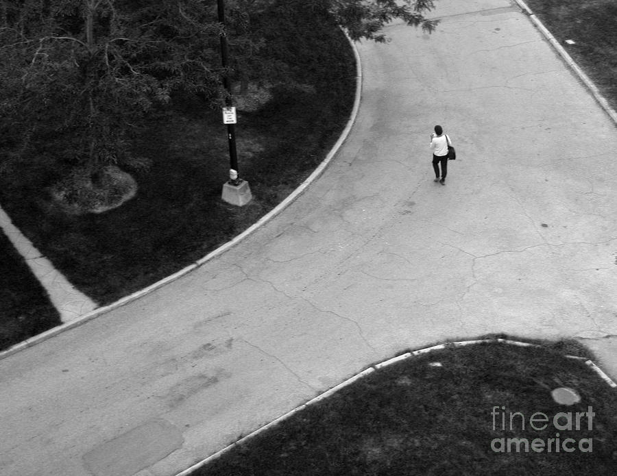 Person on Walkway by Tom Brickhouse