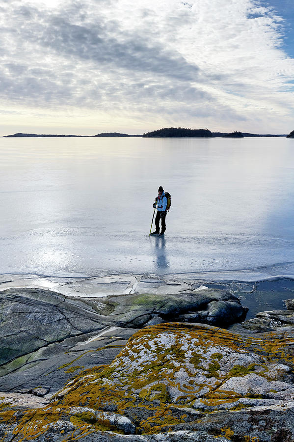 Person Skating At Frozen Sea Photograph by Johner Images