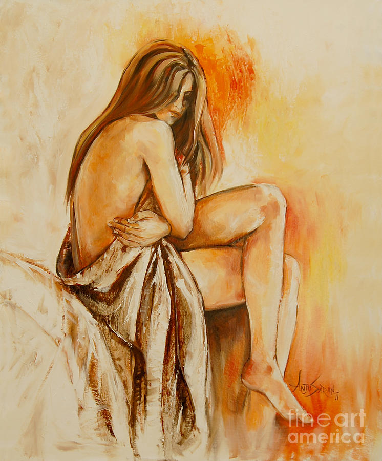 Figure Painting - Personal Moments by Anju Saran