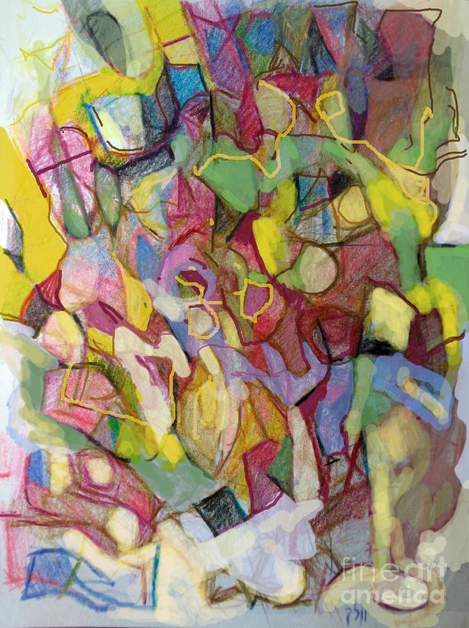 Torah Drawing - Personal Progress 3 by David Baruch Wolk