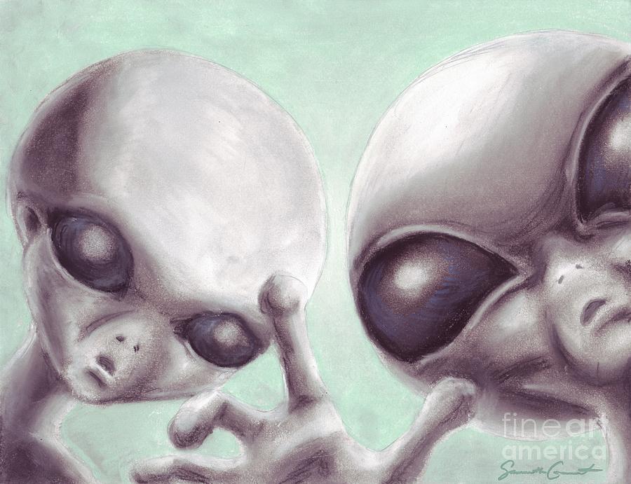 Personal Space Invaders Drawing By Samantha Geernaert