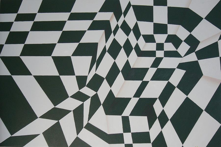 Acrylic Painting - Perspective Confusion by Leana De Villiers