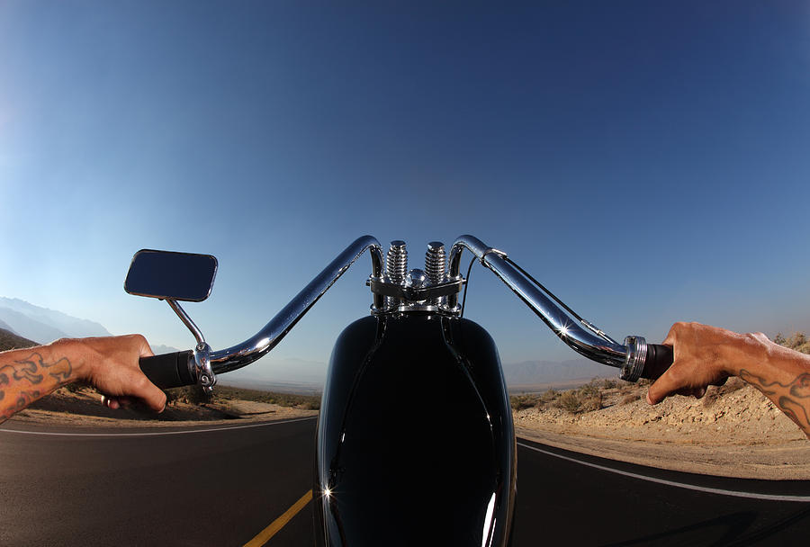 Perspective Of Motorcycle Rider From The Seat Photograph by Skodonnell
