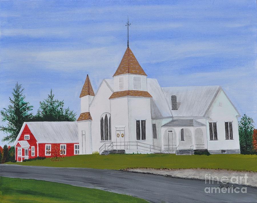 Church Painting - Peru Congregational Church by Sally Rice