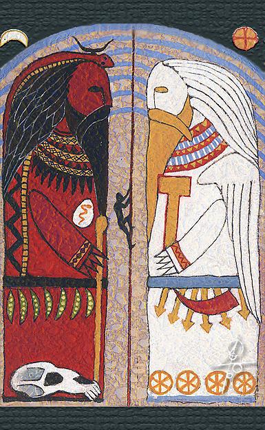 Slavic Mythology Painting - Perun and Volos by Maxim Sukharev