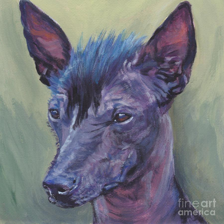 Peruvian Hairless Dog Painting - Peruvian Hairless Dog by Lee Ann Shepard