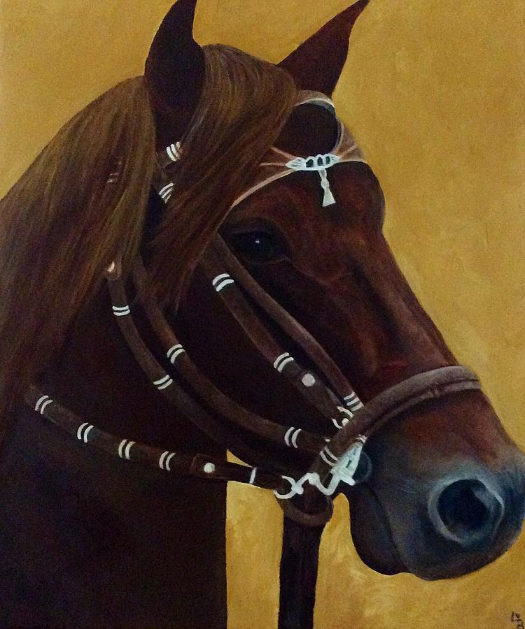 Peruvian Painting - Peruvian Horse by Lisa Bentley