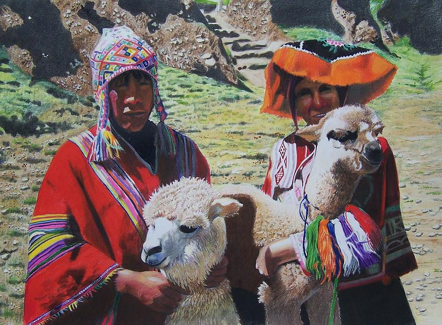 Landscape Mixed Media - Peruvians by Constance Drescher