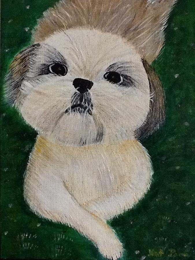 Dog Painting - Pet Dog by Kat Poon