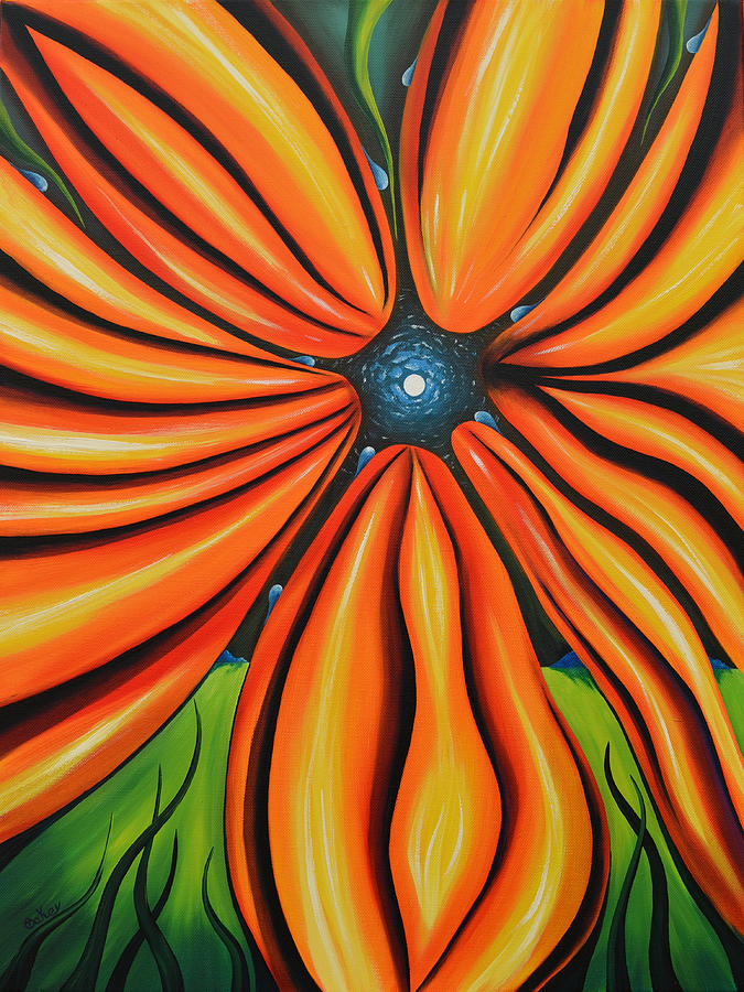 Mental Painting - Petal To The Mental by Tony Oakey
