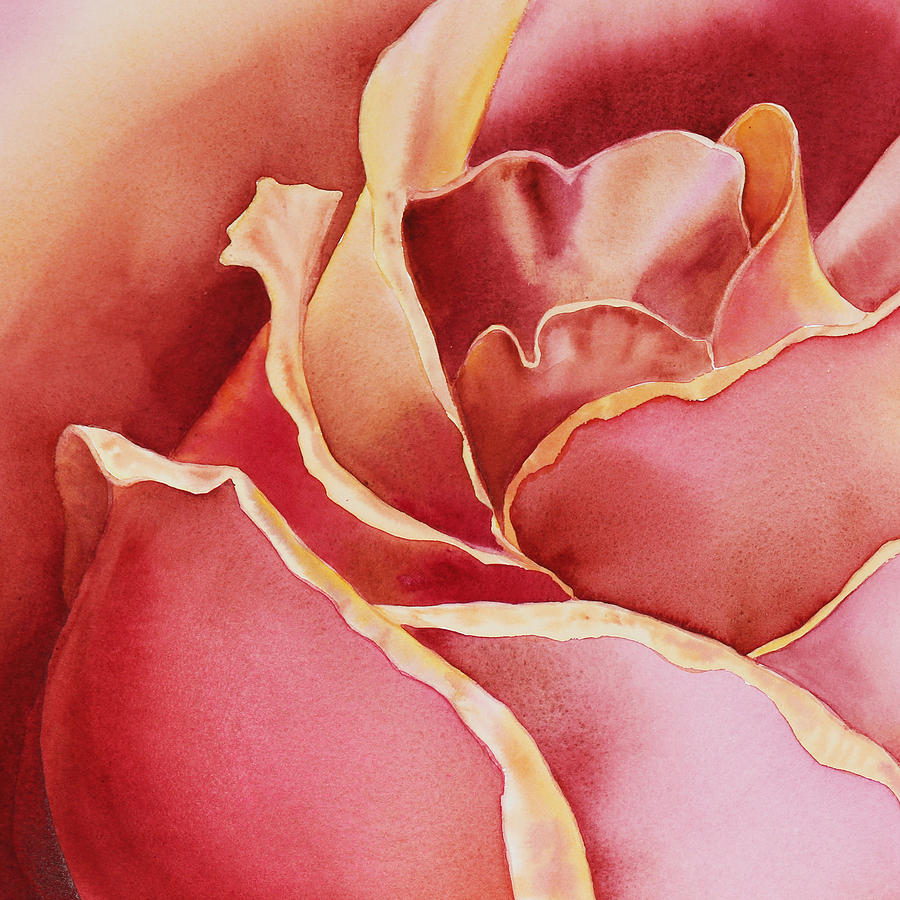 Roses Painting - Petals Petals I by Irina Sztukowski