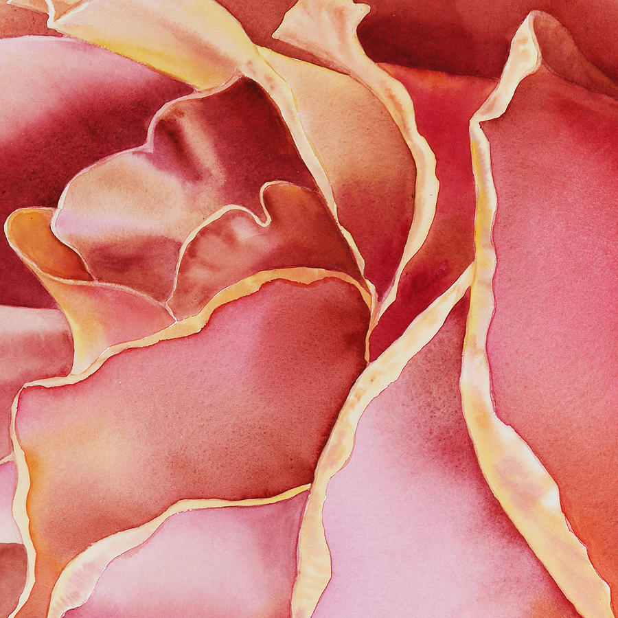Watercolor Painting - Petals Petals II  by Irina Sztukowski