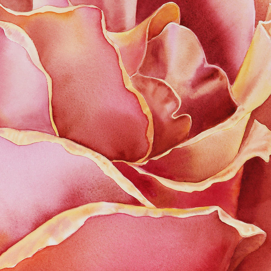 Rose Painting - Petals Petals IIi by Irina Sztukowski