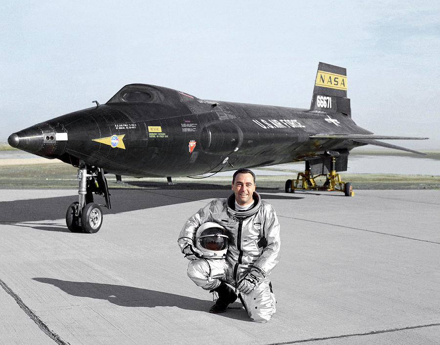 X-15 Photograph - Pete Knight As X-15 Test Pilot by Nasa