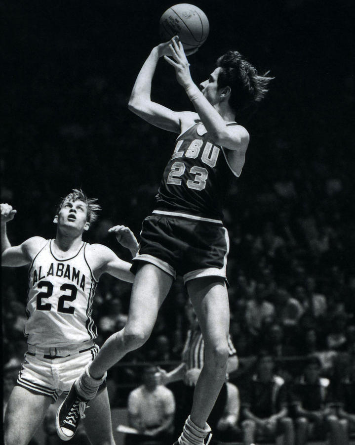 Classic Photograph - Pete Maravich Fade Away by Retro Images Archive