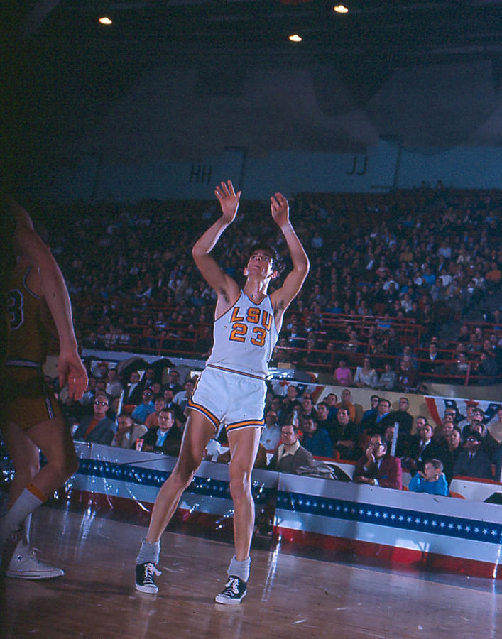 Classic Photograph - Pete Maravich Follow Through by Retro Images Archive