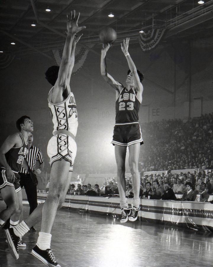Classic Photograph - Pete Maravich Jump Shot by Retro Images Archive