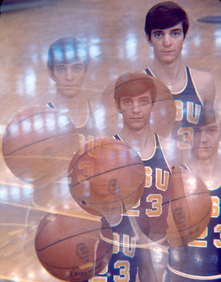 Classic Photograph - Pete Maravich Kaleidoscope Color 2 by Retro Images Archive