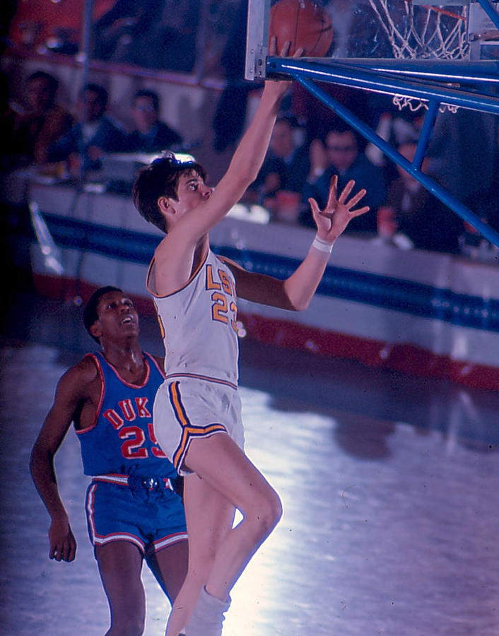 Classic Photograph - Pete Maravich Layup by Retro Images Archive
