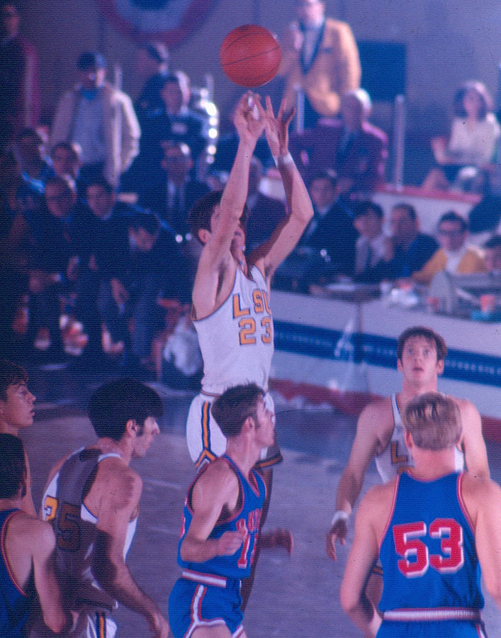Classic Photograph - Pete Maravich Releasing Shot by Retro Images Archive