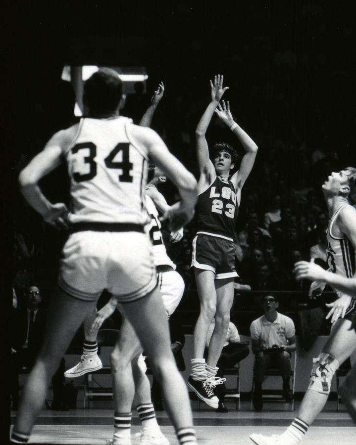 Classic Photograph - Pete Maravich Shooting Jumper by Retro Images Archive