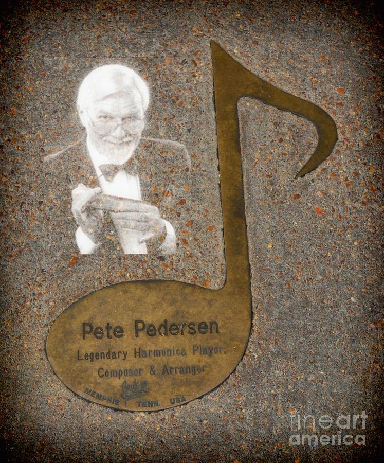 Jazz Photograph - Pete Pedersen Note by Donna Greene