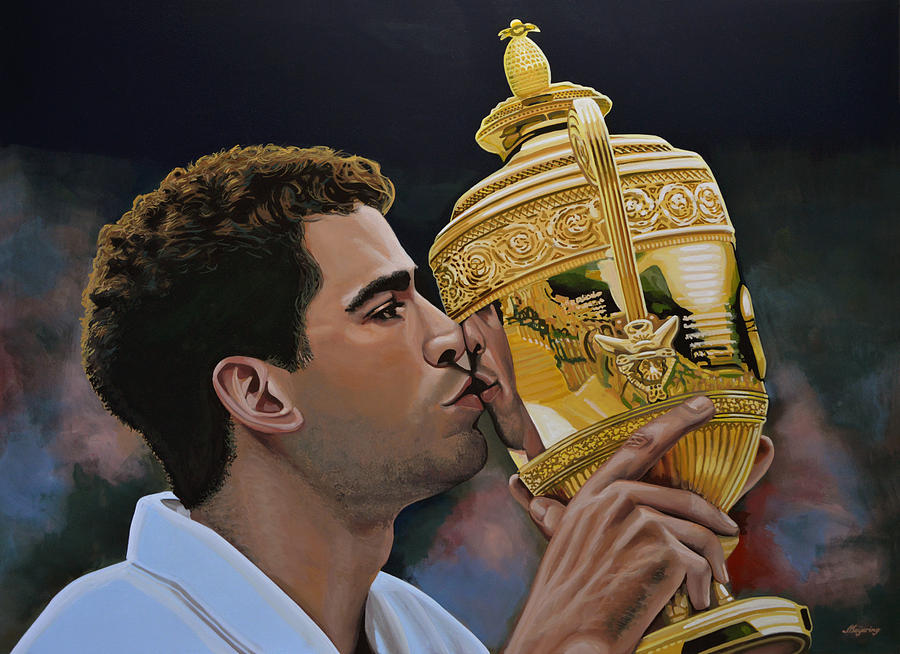 Pete Sampras Painting - Pete Sampras by Paul Meijering