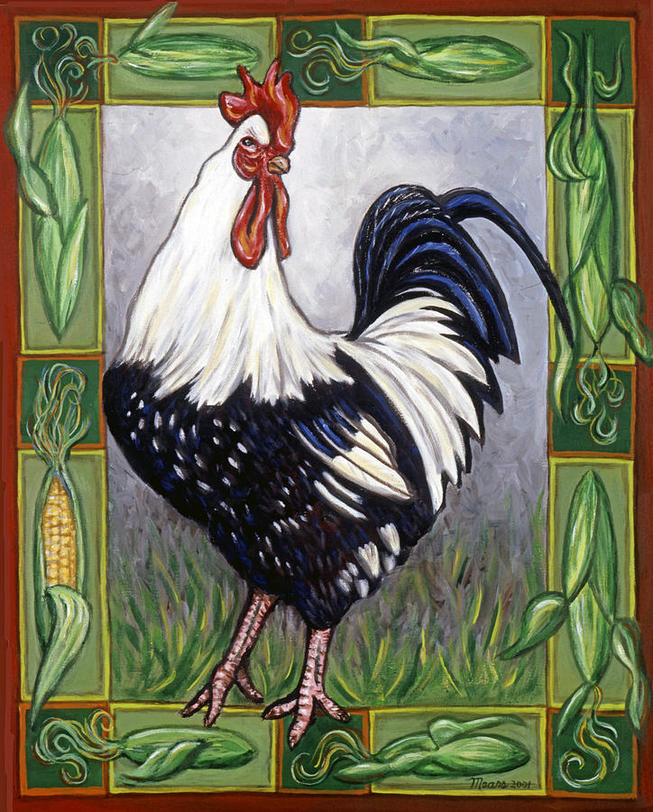Animals Painting - Pete The Rooster by Linda Mears