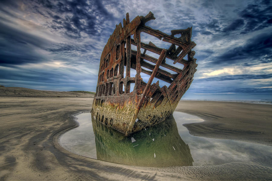 Peter Photograph - Peter Iredale At Dawn by David Gn