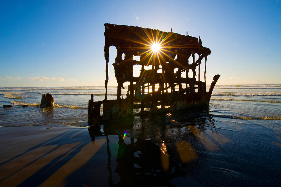 Color Image Photograph - Peter Iredale Shipwreck, Fort Stevens by Panoramic Images