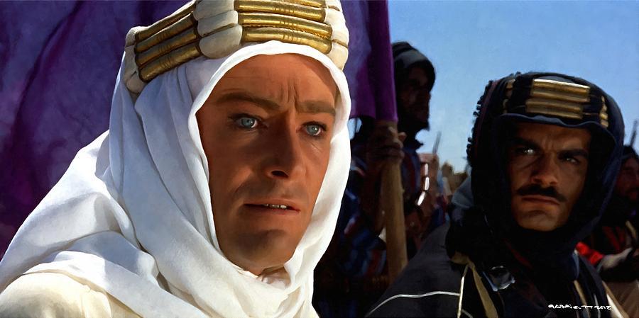 Alec Guinness Digital Art - Peter Otoole And Omar Sharif In Lawrence Of Arabia by Gabriel T Toro