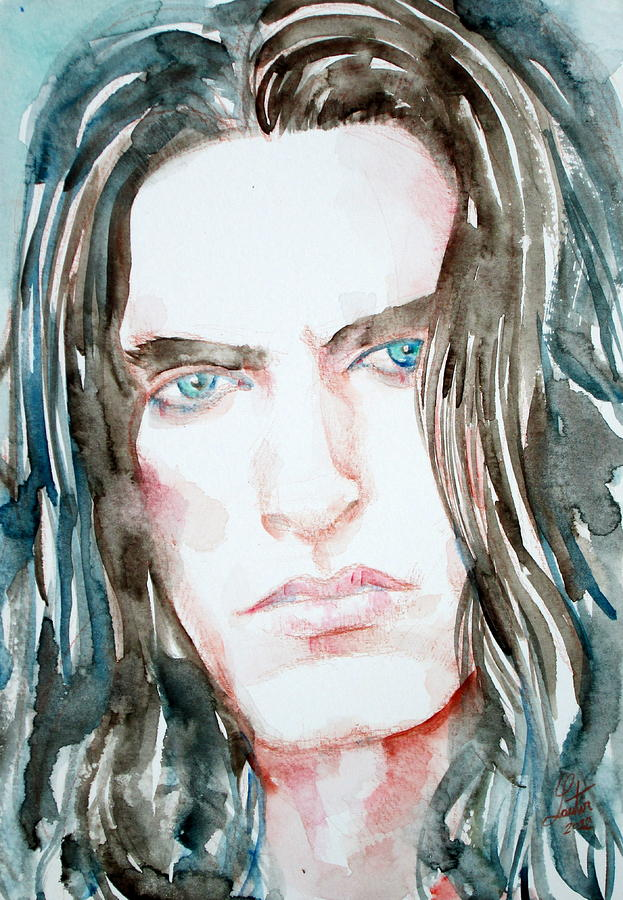 Peter Painting - Peter Steele Watercolor Portrait by Fabrizio Cassetta
