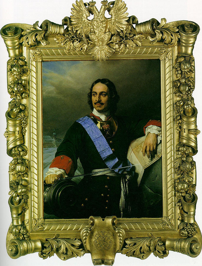 Peter The Great Of Russia Digital Art - Peter The Great Of Russia by Paul  Delaroche
